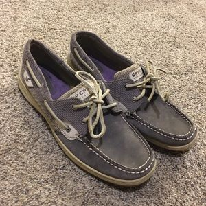 sperry top-sider grey loafers size 10